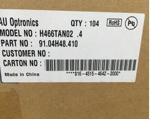 友达液晶玻璃H466TAN02.4