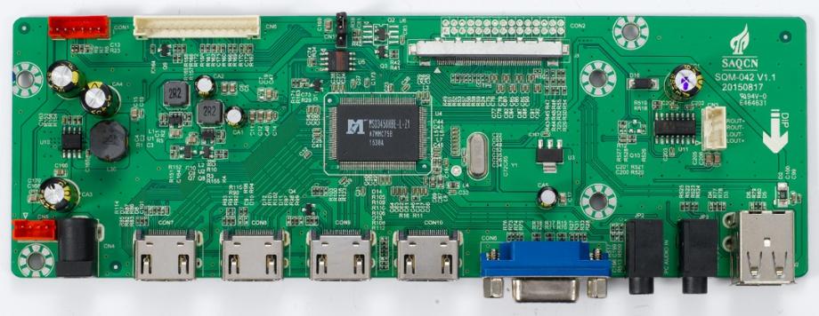 此主板的主控IC 是MSD3458。它具有高清晰高质量显示效果同时支持3D降噪。搭载了 MHL3.0 接口和V-BY-ONE接口,支持HDMI2.0 和支持4K信号源。另外,此IC 还支持倒 屏和低功耗待机功能。 此主板的主要功能包括: A. 四路高清输入:支持HDMI 1.3/1.4/2.0 版本,支持12 位深色225MHz1080P60Hz 信号格 式输入,支持HDMI 3D格式和4Kx2K格式信号输入。 B.一路电脑输入:支持1080P、SXGA75Hz 和SOG,支持颜色自动调整。 C.两路多媒